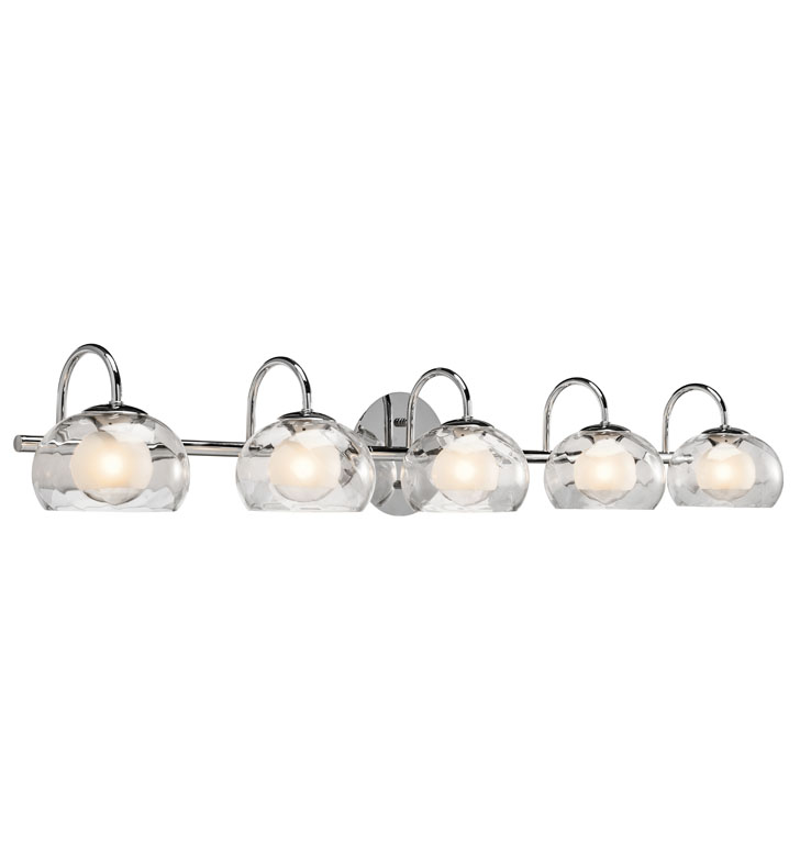 Elan Lighting 83078 Niu™ 5-Bulb Vanity Light in Chrome Finish
