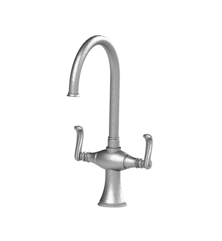 Rubinet 8DETLSNSN Etruscan Dual Handle Kitchen Faucet With Finish: Main Finish: Satin Nickel | Accent Finish: Satin Nickel