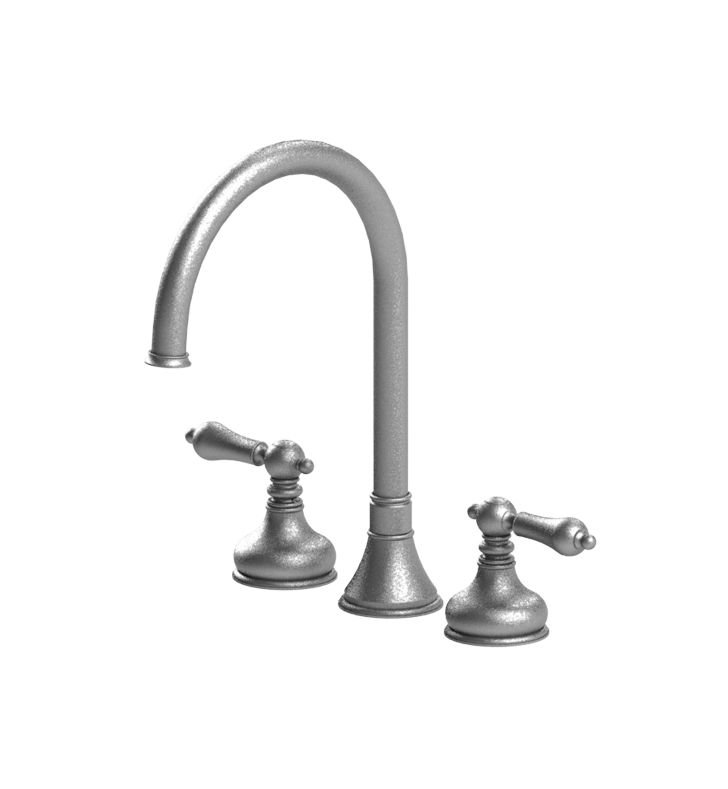 Rubinet 8ARMLCHCH Romanesque Widespread Kitchen Faucet With Finish: Main Finish: Chrome | Accent Finish: Chrome