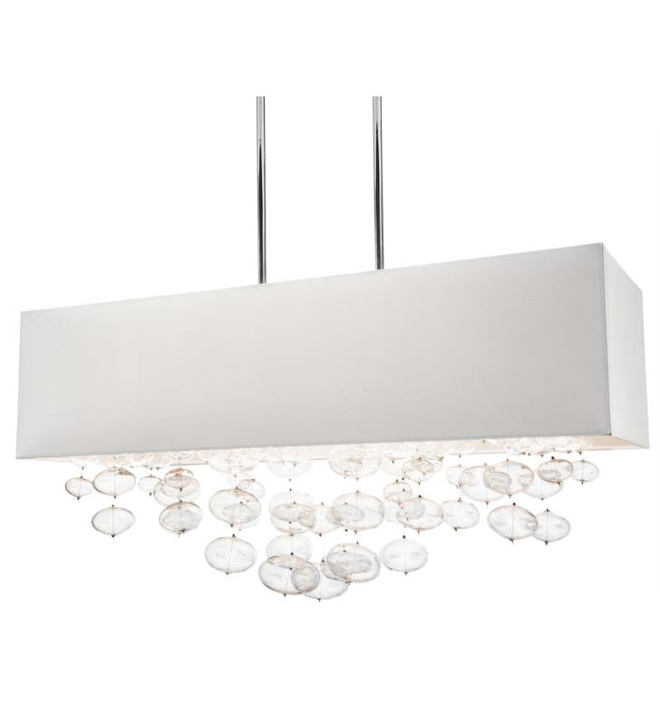 "Elan Lighting 83248 Piatt 6 Light 32"" Halogen Rectangle Pendant in Chrome Finish"