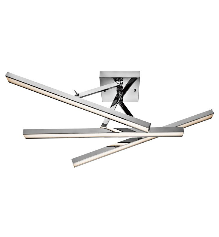 Elan Lighting 83278 Rozi™ Adjustable Linear Semi-Flushmount Ceiling Light in Chrome Finish