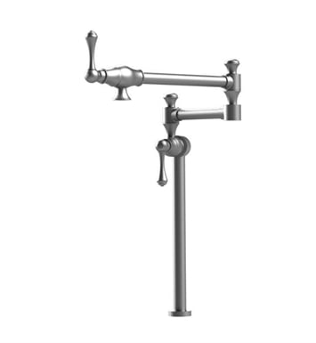 Rubinet 8HFMLCHCH Flemish Deck Mount Pot Filler With Finish: Main Finish: Chrome | Accent Finish: Chrome