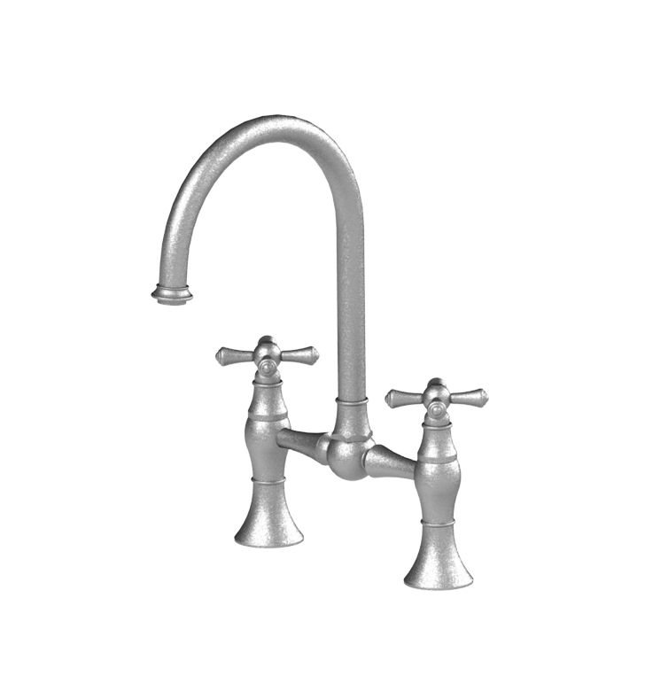 Rubinet 8VFMC Flemish Kitchen Bridge Faucet