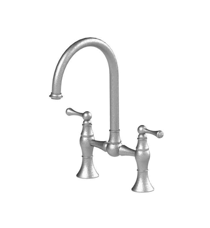 Rubinet 8VFMLBBBB Flemish Kitchen Bridge Faucet With Finish: Main Finish: Bright Brass | Accent Finish: Bright Brass