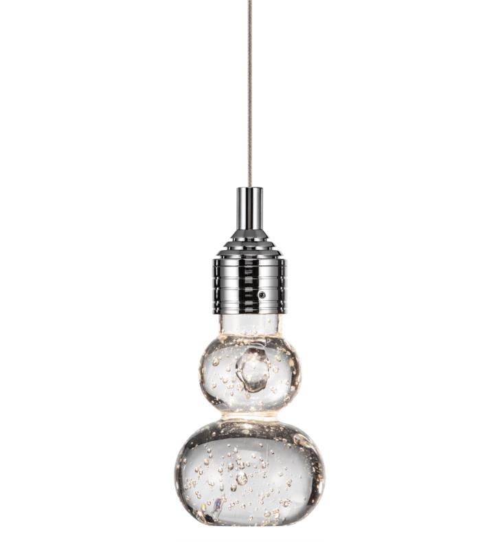 "Elan Lighting 83275 Xela 1 Light 3 1/4"" LED Mini Pendant in Chrome Finish"
