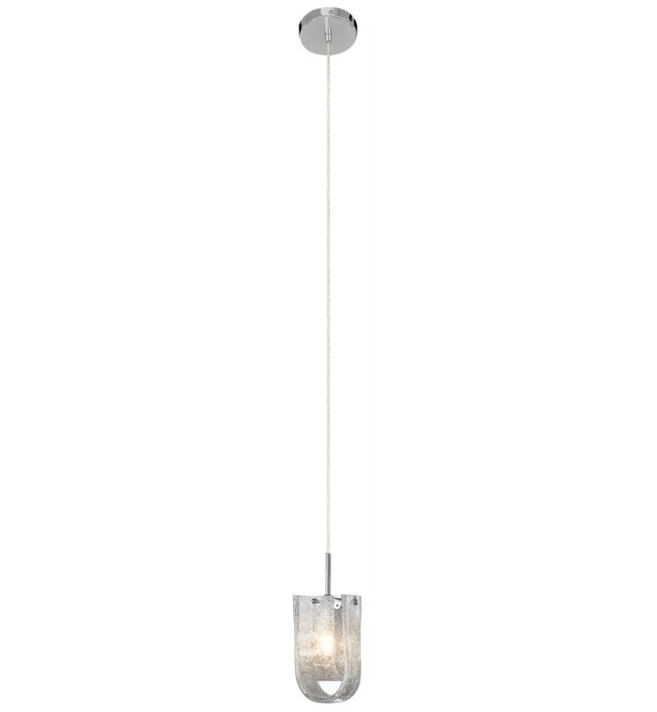 "Elan Lighting 83093 Zanne 1 Light 3 3/4"" Halogen Mini Pendant in Chrome Finish"