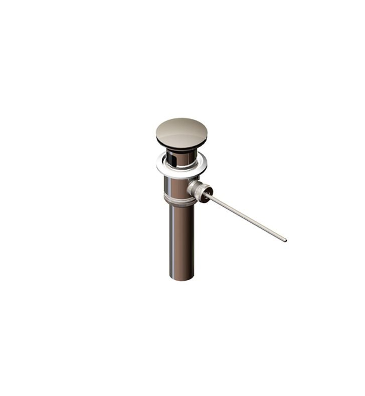 Rubinet 9DPU11PN Pop-Up Drain with Oversize Plug With Finish: Polished Nickel