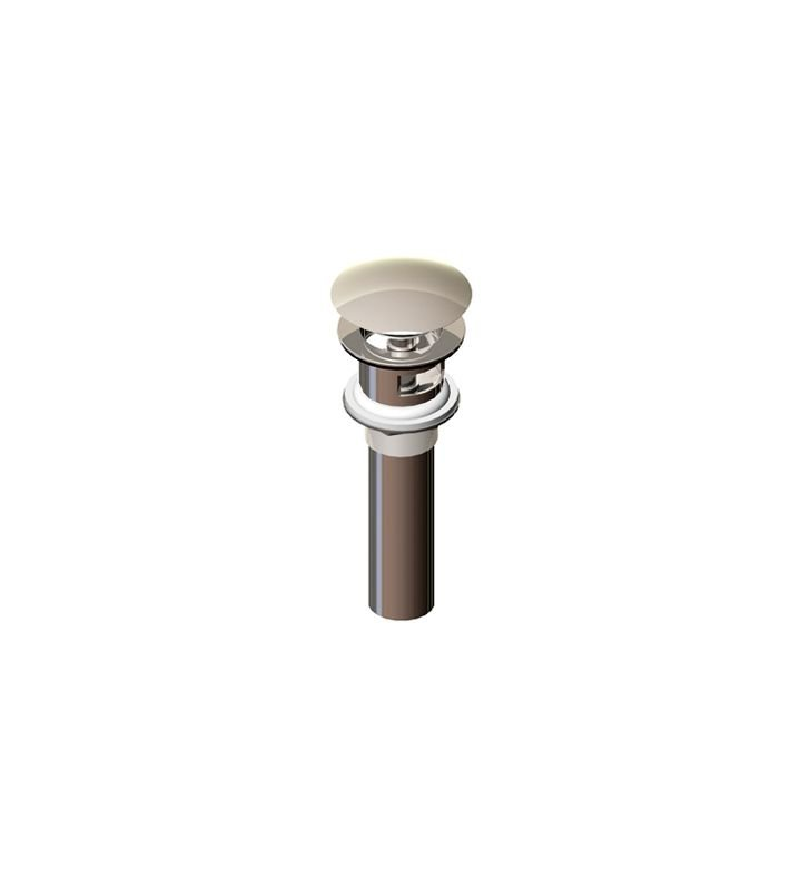Rubinet 9DPU13SC Push-Up Drain with Overflow With Finish: Satin Chrome