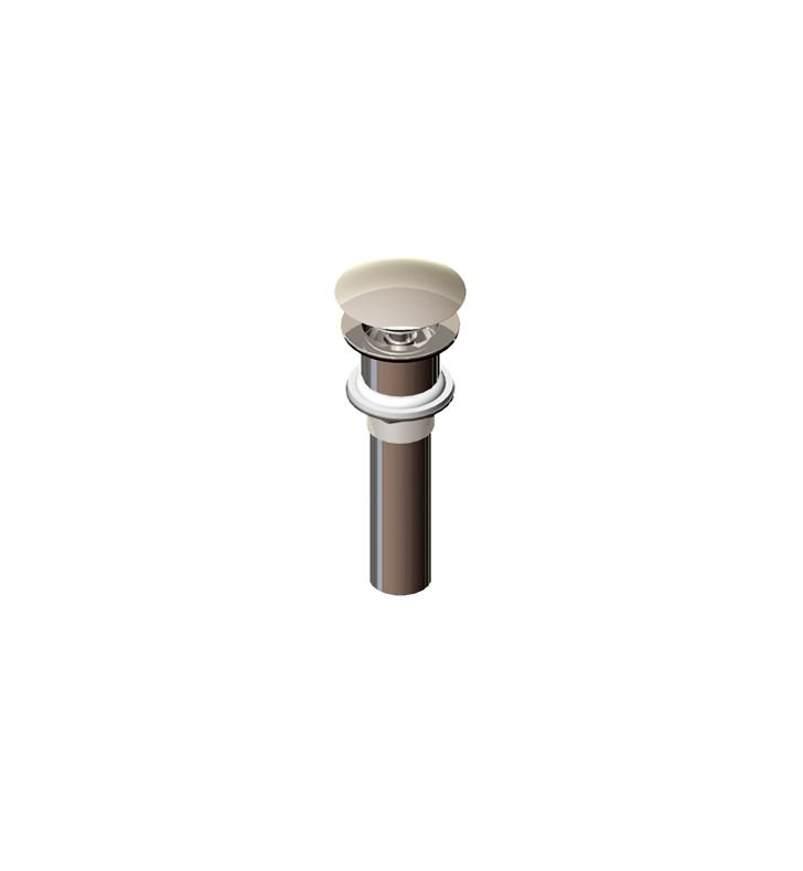 Rubinet 9DPU14SN Exposed Push-Up Drain without Overflow With Finish: Satin Nickel