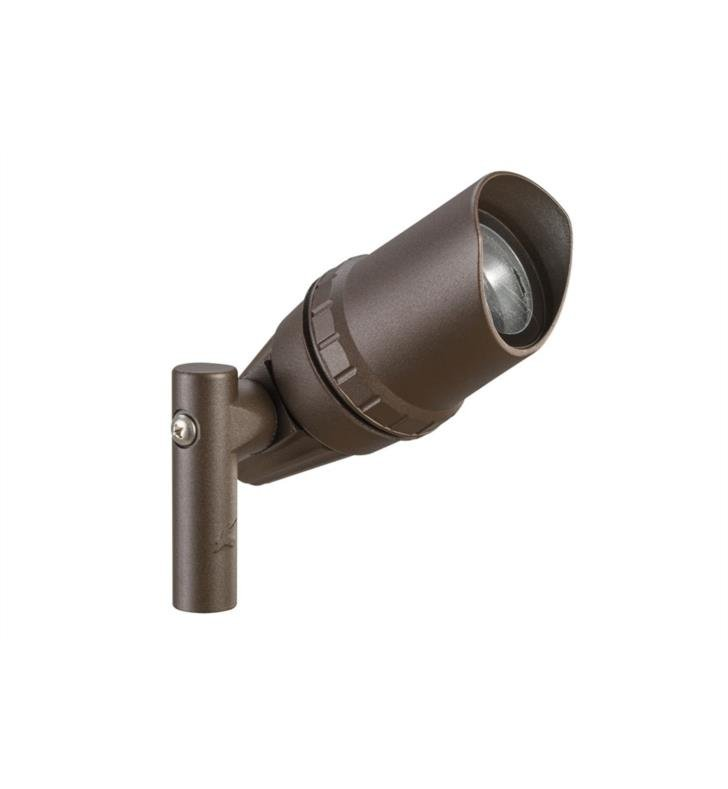 Kichler 15397AZT 1 Light 12V Landscape Architectural Adjustable Accent Light in Textured Architectural Bronze
