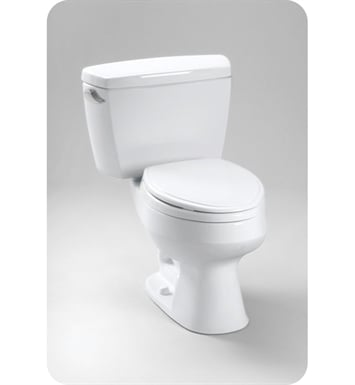 TOTO CST716DB Carusoe® Two Piece Toilet, Insulated Tank and Bolt Down Lid, 1.6 GPF