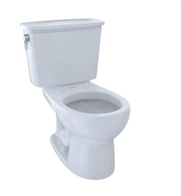 TOTO CST743EN#01 Eco Drake Two-Piece Round Toilet with 1.28 GPF Single Flush With Finish: Cotton