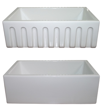 "LaToscana LAT-R3018W 29-1/2"" Reversible Fireclay Farmhouse Sink"