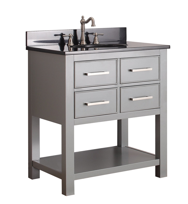 "Avanity BROOKS-V30-CG Brooks 30"" Bathroom Vanity in Chilled Gray finish"