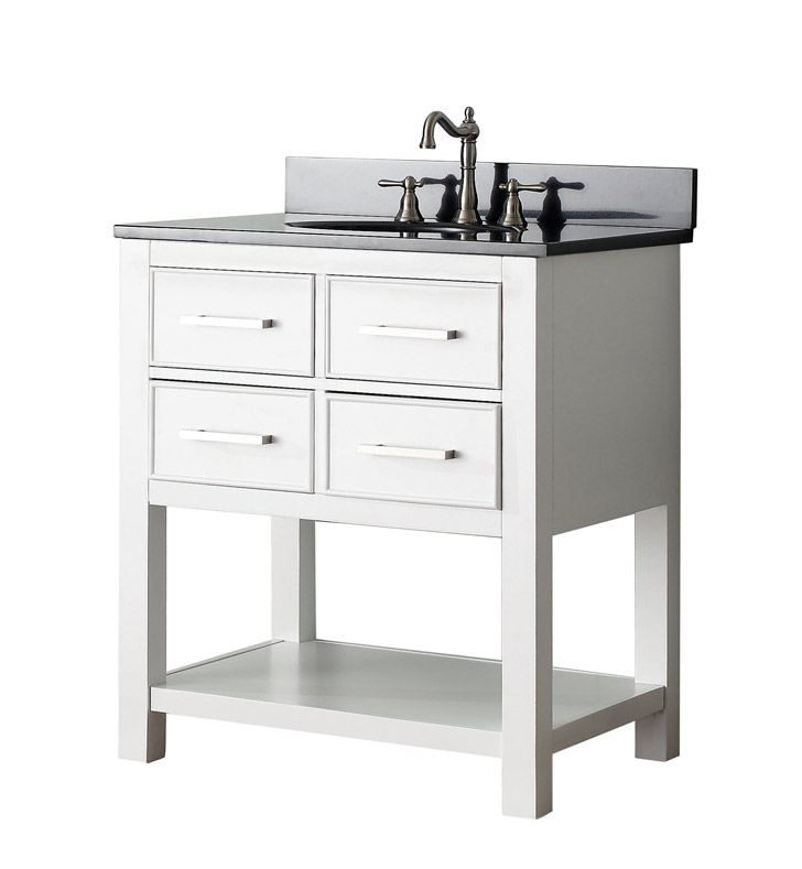 "Avanity BROOKS-V30-WT Brooks 30"" Bathroom Vanity in White finish"