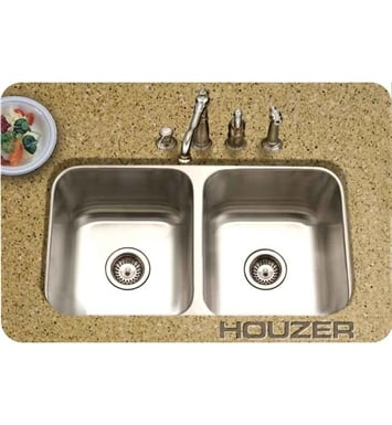 Houzer MD-3109-1 Undermount Double Basin Kitchen Sink