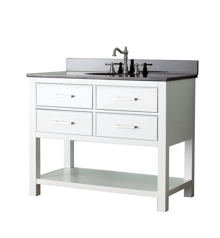 "Avanity BROOKS-V42-WT Brooks 42"" Bathroom Vanity in White finish"