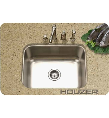 Houzer MS-2309-1 Rectangular Undermount Single Basin Bar Sink