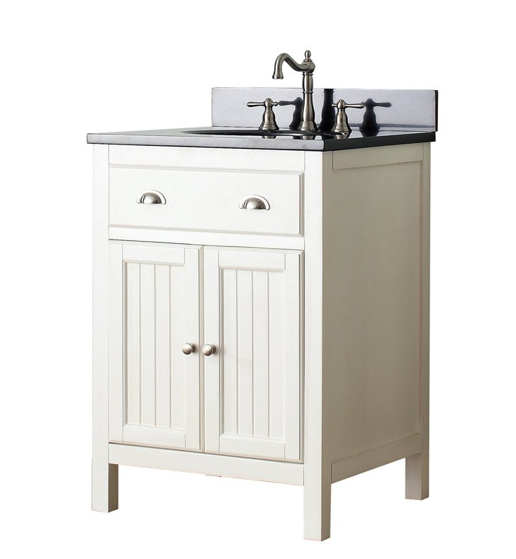 "Avanity HAMILTON-V24-FW Hamilton 24"" Bathroom Vanity in French White finish"