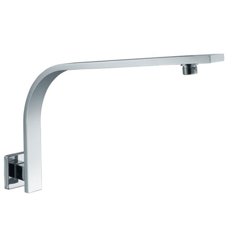 ALFI Brand AB16GSW-BN [DISCONTINUED] ALFI Brand AB16GSW Square Wall Mounted Brushed Nickel Shower Arm for Rain Shower Heads