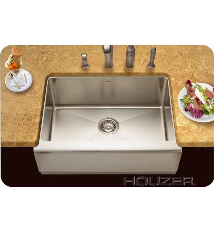 Houzer EPS-3000 Farm House Undermount Single Basin Kitchen Sink