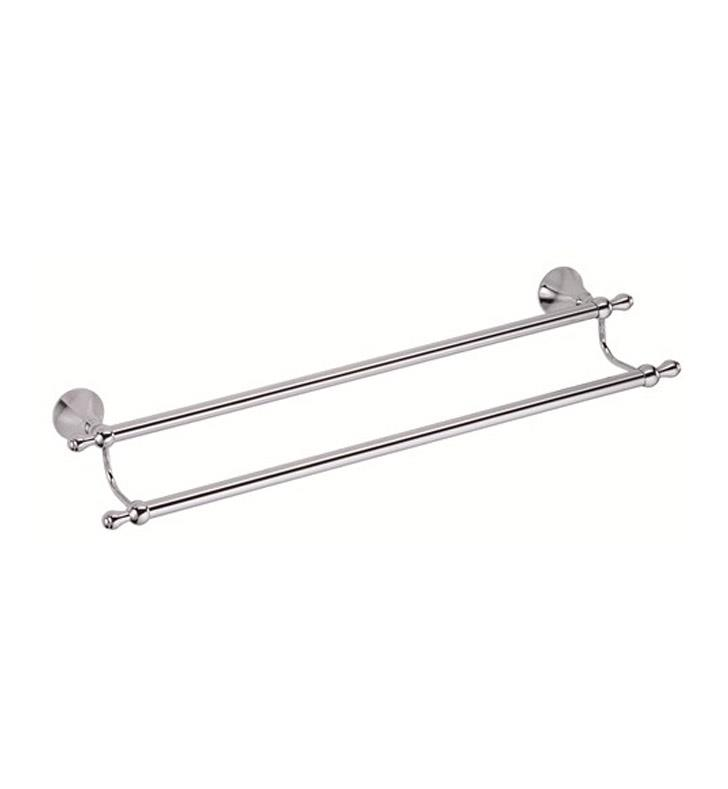 "Danze D441602BN Bannockburn 27 1/8"" Wall Mount Double Towel Bar With Finish: Brushed Nickel"