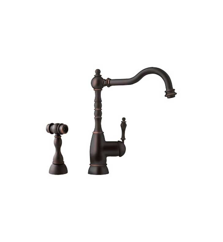 Franke FHF160 Old World Bronze Farm House Kitchen Faucet with Side Spray