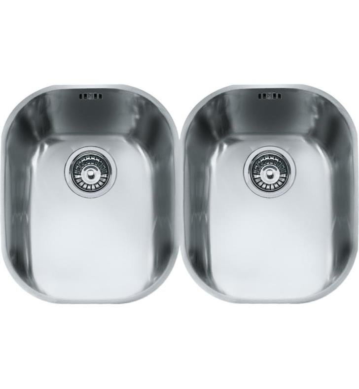 "Franke CPX120 Compact 29 1/8"" Double Bowl Undermount Stainless Steel Kitchen Sink"