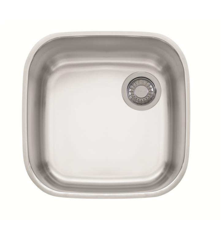 "Franke GNX11016 EuroPro 16 7/8"" Single Basin Undermount Stainless Steel Kitchen Sink"