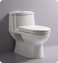 Fresca FTL2222 Dorado One Piece Dual Flush Toilet with Soft Close Seat