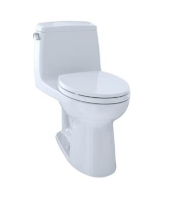 TOTO MS854114SL#11 UltraMax One-Piece Elongated Bowl with SoftClose Seat and 1.6 GPF Single Flush With Finish: Colonial White