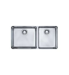 "Franke KBX12034 Kubus 34 1/2"" Double Basin Undermount Stainless Steel Kitchen Sink"
