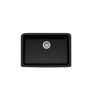 Franke MHK110-28MB Manor House Single Basin Farmhouse Fireclay Kitchen Sink in Matte Black