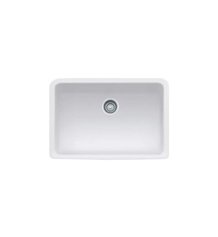 Franke MHK110-28MW Manor House Single Basin Farmhouse Fireclay Kitchen Sink in Matte White