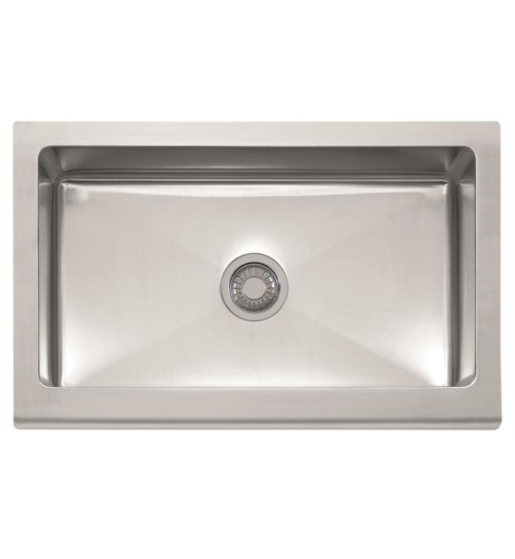 "Franke MHX710-33 Manor House 33"" Single Basin Apron Front Stainless Steel Kitchen Sink"