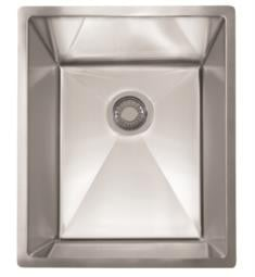 "Franke PEX110-14 Planar 8 15 1/2"" Single Basin Undermount Stainless Steel Kitchen Sink"