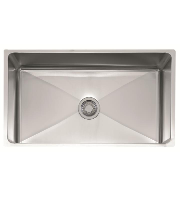 "Franke PSX1103312 Professional 34"" Single Basin Undermount Stainless Steel Kitchen Sink"