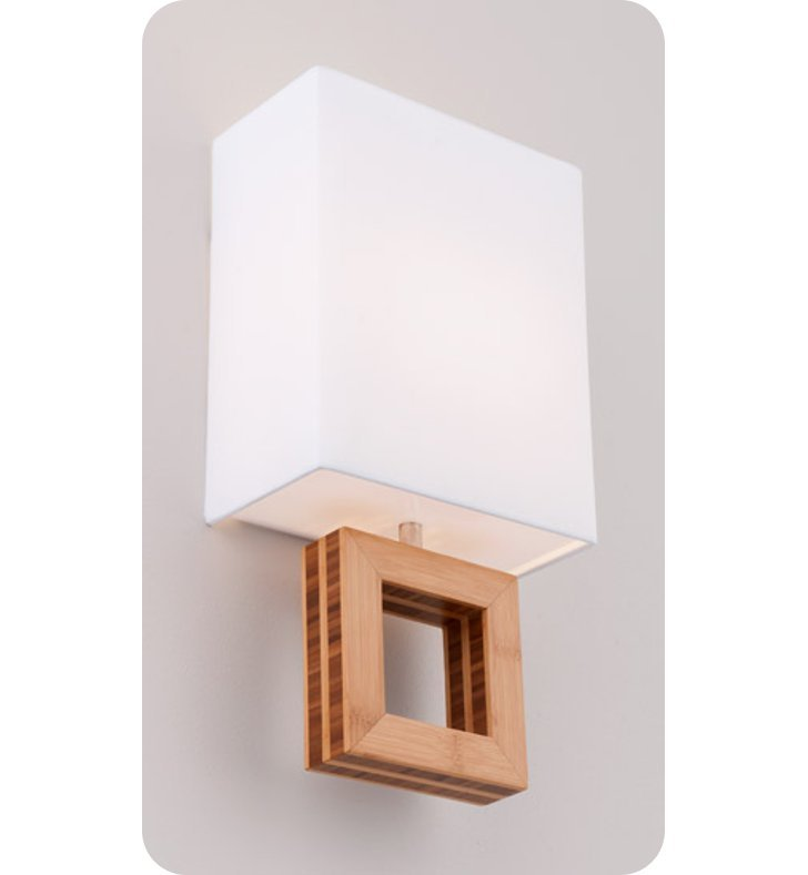 Ayre ARC1-A-WS-BA-EB-LED Boutique Arcadia ADA Wall Sconce Light With Finish: Brushed Aluminum And Lamping Type: LED And Wood Finish: Ebony