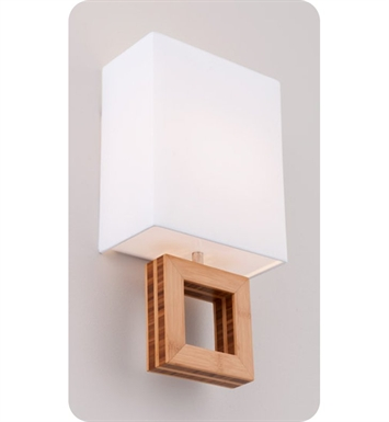 Ayre ARC1-A-WS-BA-BB-LED Boutique Arcadia ADA Wall Sconce Light With Finish: Brushed Aluminum And Lamping Type: LED And Wood Finish: Bamboo