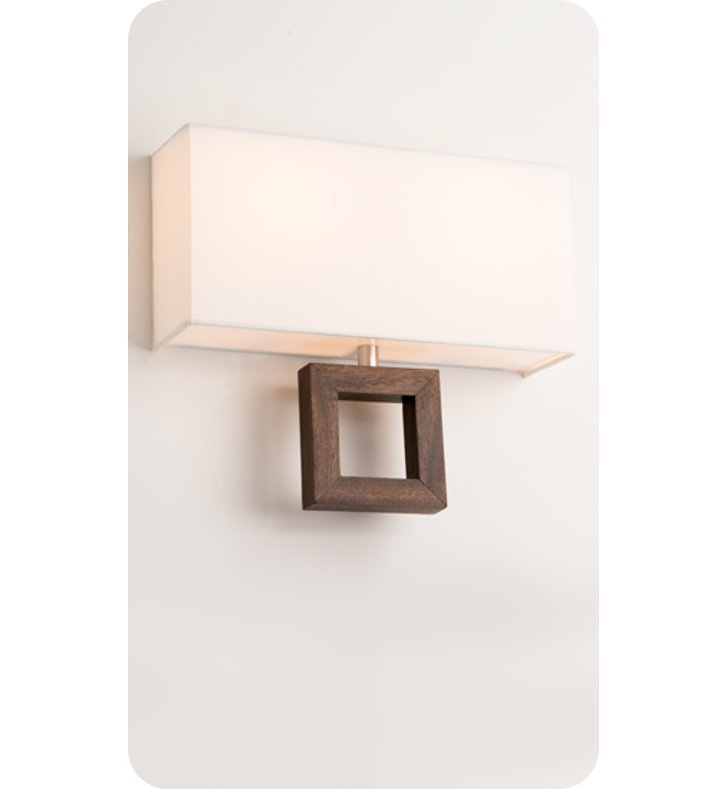 Ayre ARCD-A-WS-BA-MH-LED Boutique Arcadia Double ADA Wall Sconce Light With Finish: Brushed Aluminum And Lamping Type: LED And Wood Finish: Mahogany