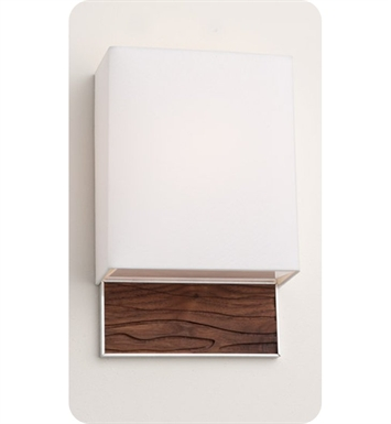 Ayre AZU1-A-WS-BA-SP-INC Boutique Azura ADA Wall Sconce Light With Finish: Brushed Aluminum And Lamping Type: Incandescent And Wood Finish: Sapele