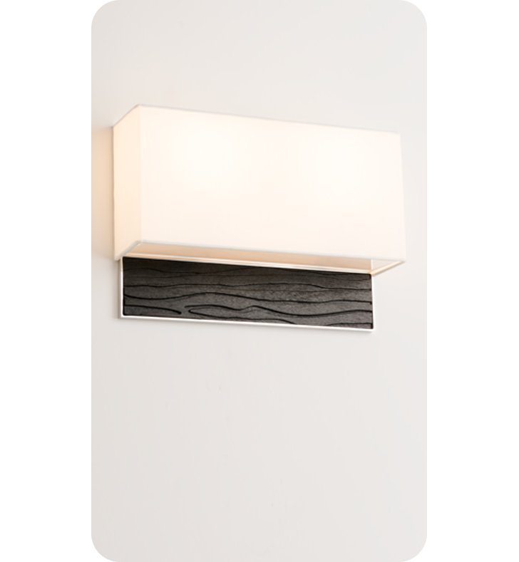 Ayre AZUD-A-WS-PA-SP-FL Boutique Azura Double ADA Wall Sconce Light With Finish: Polished Aluminum And Lamping Type: Fluorescent And Wood Finish: Sapele