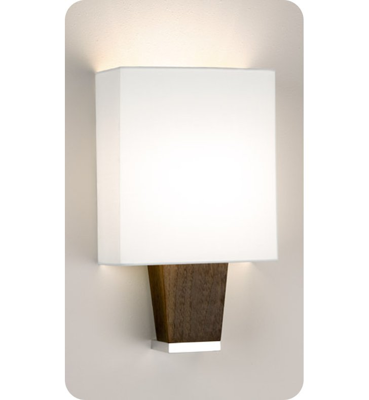 Ayre CAP1-A-WS-PA-EB-LED Boutique Capri ADA Wall Sconce Light With Finish: Polished Aluminum And Lamping Type: LED And Wood Finish: Ebony
