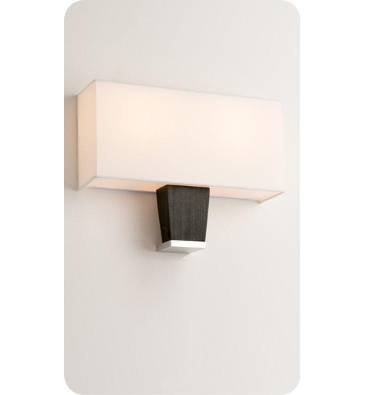 Ayre CAPD-A-WS-PA-EB-LED Boutique Capri Double ADA Wall Sconce Light With Finish: Polished Aluminum And Lamping Type: LED And Wood Finish: Ebony
