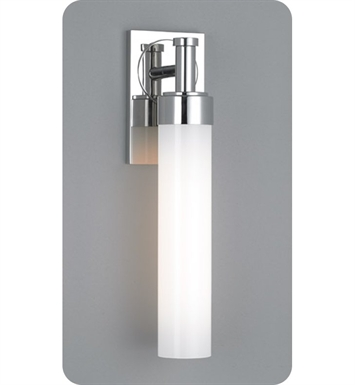 Ayre CIR1-A-SO-CH-FL Circ Single ADA Wall Sconce Light with Shiny Opal Glass Diffuser With Finish: Polished Chrome And Lamping Type: Fluorescent