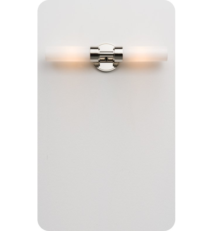 Ayre CIRDR-A-SO-PN-FL Circ Duo R Wall Sconce ADA Light with Shiny Opal Glass Diffuser With Finish: Polished Nickel And Lamping Type: Fluorescent