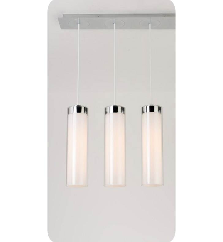 Ayre CIRPL3D-P-SO-CL-BN-LED Circ 3 Light Linear Multi Pendant with Droplet Canopy With Finish: Brushed Nickel And Lamping Type: LED