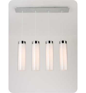 Ayre CIRPL4D-P-SO-CL-BN-LED Circ 4 Light Linear Multi Pendant with Droplet Canopy With Finish: Brushed Nickel And Lamping Type: LED