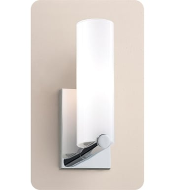 Ayre CLK1-A-SO-PN-FL Clik ADA Wall Sconce Light with Shiny Opal Glass Diffuser With Finish: Polished Nickel And Lamping Type: Fluorescent