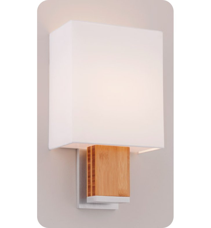 Ayre DIA1-A-WS-BA-BB-INC Boutique Dia ADA Wall Sconce Light With Finish: Brushed Aluminum And Lamping Type: Incandescent And Wood Finish: Bamboo